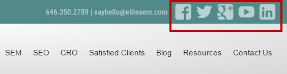 Onsite Social Profile Linking Elite SEM