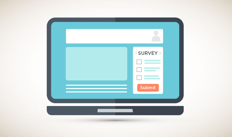 Web Page With Survey on Right Rail
