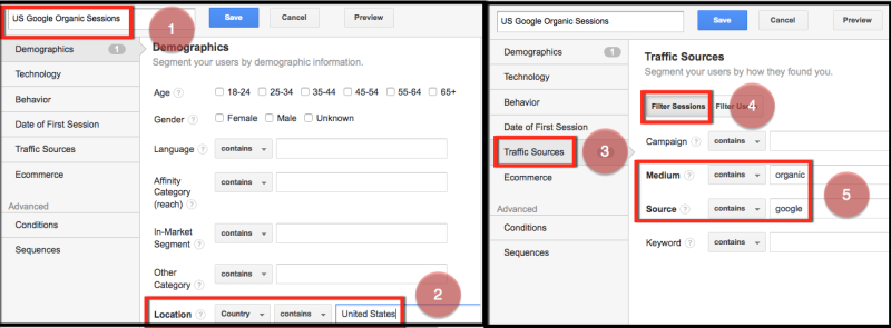 custom segments and alerts for seo us google