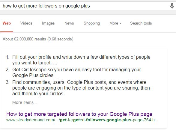 Second Example of a Featured Snippet