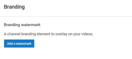 YouTube Video Branding Watermark